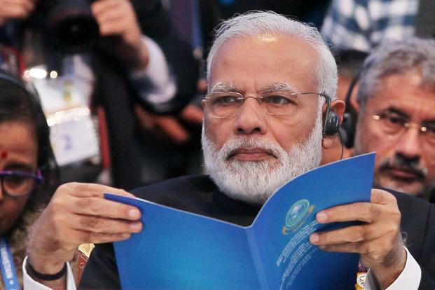 PM Narendra Modi is attending the Shanghai Cooperation Organizaton's Summit meet in Astana. Photo: AFP