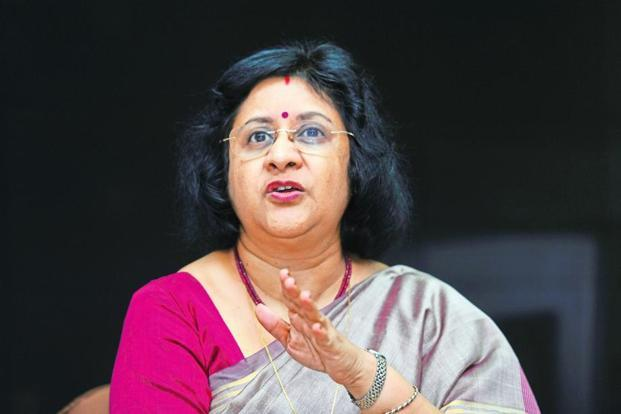 SBI chief Arundhati Bhattacharya says in 2017-18 the bank will be focusing on listing its life insurance arm. Photo: S. Kumar/Mint