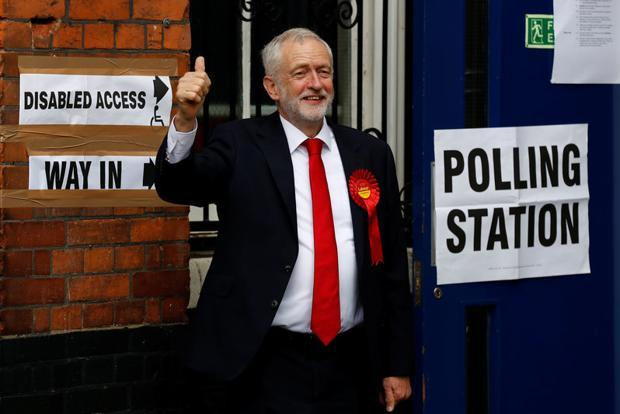 Jeremy Corbyn, leader of Britain's opposition Labour Party, arrives to vote in Islington, London on 8 June. Photo: Reuters