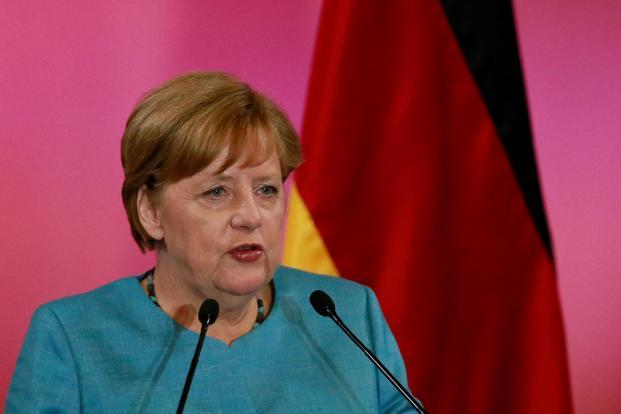 Germany's Chancellor Angela Merkel addresses the audience during a news conference at National Palace in Mexico City on 9 June.  Photo: Reuters