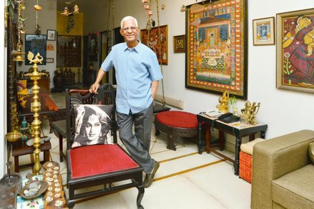 Mrityunjay Athreya at his home in C.R. Park, Delhi. Photo: Ramesh Pathania/Mint