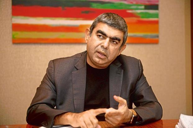 The meeting between Arun Jaitley and Vishal Sikka (in pic) assumes significance as Prime Minister Narendra Modi is scheduled to visit the US later in June. Photo: Abhijit Bhatlekar/Mint