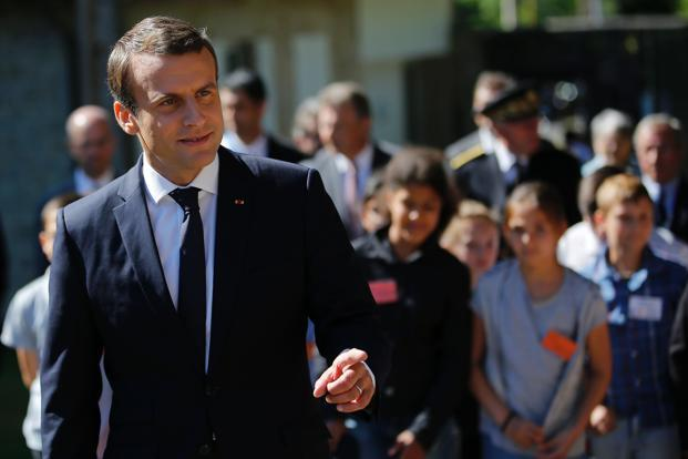 If the seat projections are confirmed next week, Emmanuel Macron will have a strong mandate to push through the ambitious labour, economic and social reforms he promised on the campaign trail. Photo: AFP