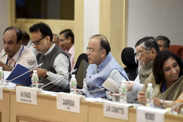 After the last GST Council meeting, finance minister Arun Jaitley said the centre and states have completed discussion on most of the issues for a 1 July GST rollout. Photo: PTI