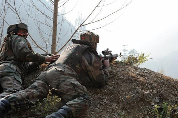 Two CRPF troopers were injured in a grenade attack by militants on their camp in Tral town on Monday. Photo: AFP