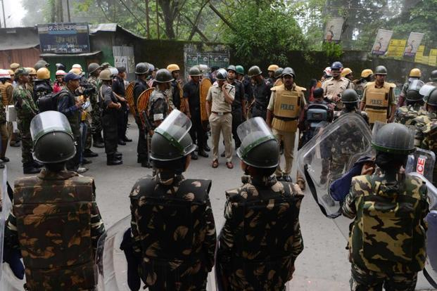 GJM protests intensify in Darjeeling; police station, media van set on fire