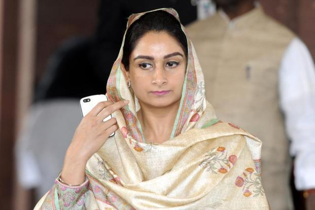 Harsimrat Kaur Badal says more investment in food processing sector is the need of the hour to reduce the huge food wastage. Photo: PTI