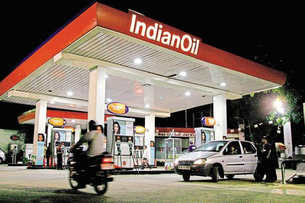 A file photo of an Indian Oil petrol pump. The daily revision of diesel prices and petrol prices will start from 16 June. Photo: Bloomberg