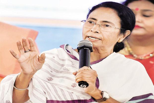 West Bengal CM and TMC chief Mamata Banerjee in Kolkata on Tuesday. Photo: PTI