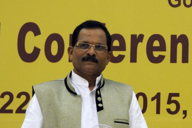 A file photo of minister of state for AYUSH Shripad Yesso Naik. Photo: Hindustan Times
