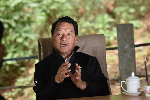 GJM chief Bimal Gurung said on Wednesday that he was willing to consider the GNLF's proposals and create a broader leadership to take the movement for a separate state of Gorkhaland forward. File photo: Indranil Bhoumik/Mint