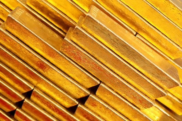 Spot gold prices were up 0.3% at $1,269.45 per ounce by 9.56am. Photo: Reuters