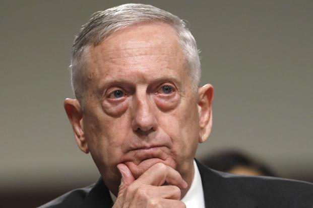 US secretary of defence Jim Mattis. Photo: AFP