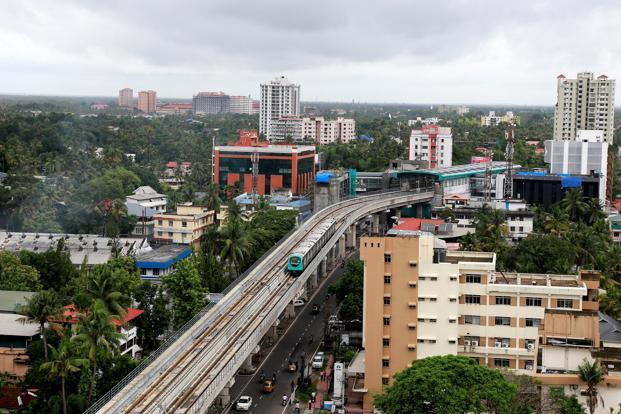 Kochi Metro train during a trial run in Kochi. Photo: Reuters