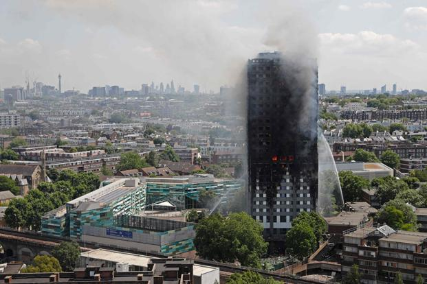 Residents of the 24-storey Grenfell Tower in central London had warned of fire safety issues in the past. Photo: AFP