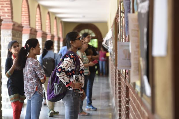 Verification of documents and approval for admissions will be done between 9.30am and 1.30pm for morning colleges and 4pm to 7pm for evening colleges. Photo: Hindustan Times
