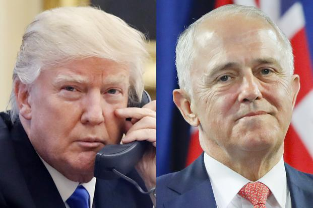 "Australian PM Malcolm Turnbull played down his Donald Trump impression, calling it ""affectionately light-hearted"". Photo: AP"