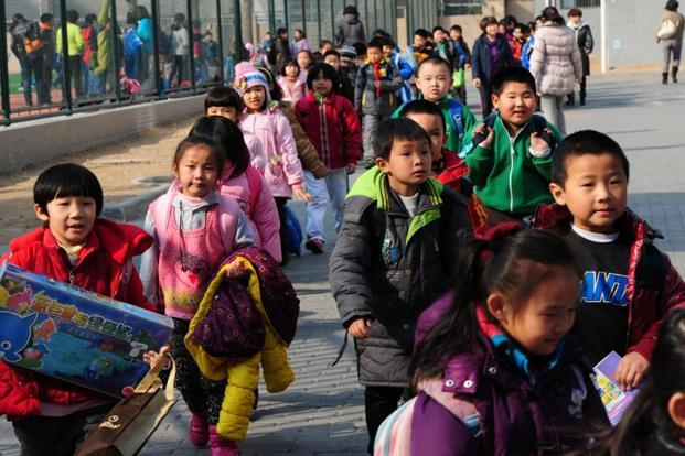 A file photo. China in the past witnessed knife attacks on kindergarten school children by disgruntled people. An explosion of this magnitude was rare. Photo: AFP