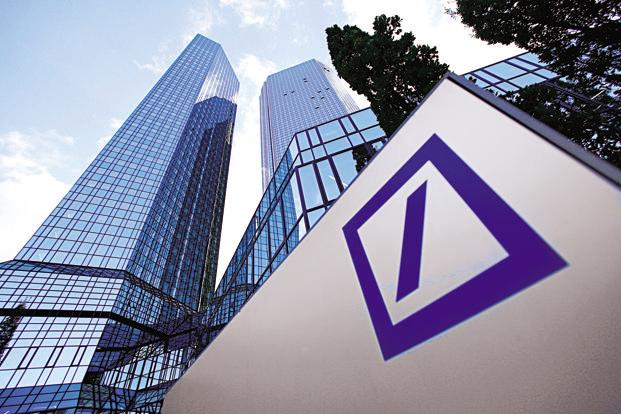 Deutsche Bank has been trying to regain its footing after a series of scandals, lawsuits and bets that went wrong pushed it to the brink of collapse last year. Photo: Bloomberg