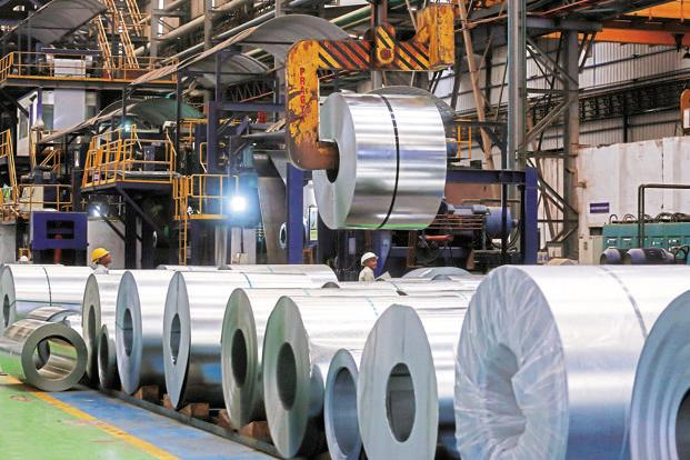 Steel companies have seen their output soar but have been exporting their surplus output as domestic demand is not growing at the same pace. Photo: Bloomberg