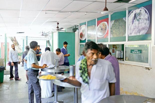 A file photo of an Amma canteen. Amma petrol pump is the latest scheme of the AIADMK government to be launched under the 'Amma' brand. Photo: Hemant Mishra/Mint