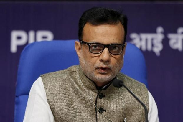 A file photo of Hasmukh Adhia, revenue secretary at the finance ministry. Photo: Reuters