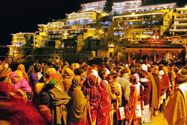 Devotees on their way to Vaishno Devi. Photo: Reuters.