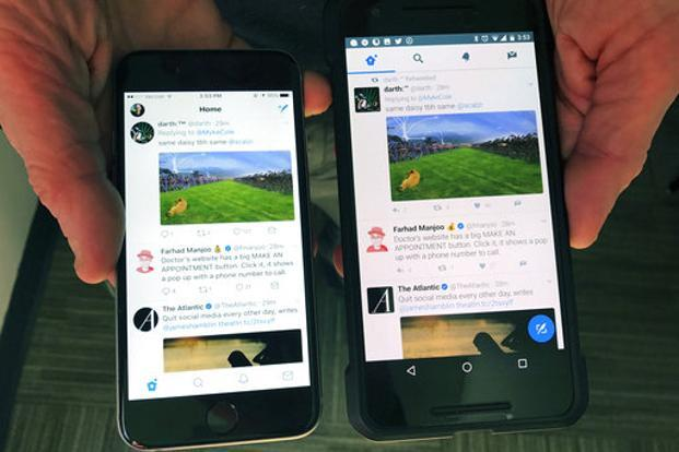 The company said the new user interface will roll out on twitter.com, Twitter for iOS, Twitter for Android, TweetDeck, and Twitter Lite in the coming days and weeks. Photo: AP
