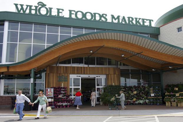 After the announcement of the deal, Whole Foods shares jumped 27% to $41.99 as of 10am in New York. Amazon shares gained 3.2% to $995. Photo: AP