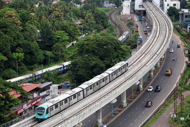 Kochi Metro, the flagship transportation infrastructure project of Kerala, will start its regular operations from Monday. Photo: PTI