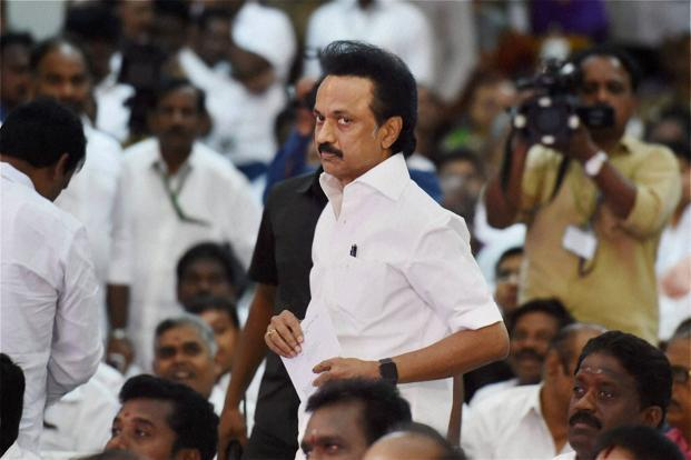 A file photo of DMK working president M K Stalin . Photo: PTI