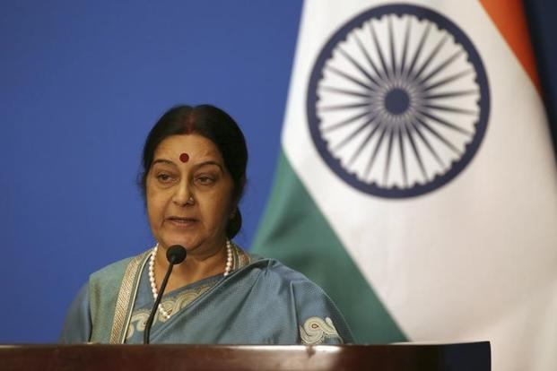 A file photo of external affairs minister Sushma Swaraj. Photo: Reuters