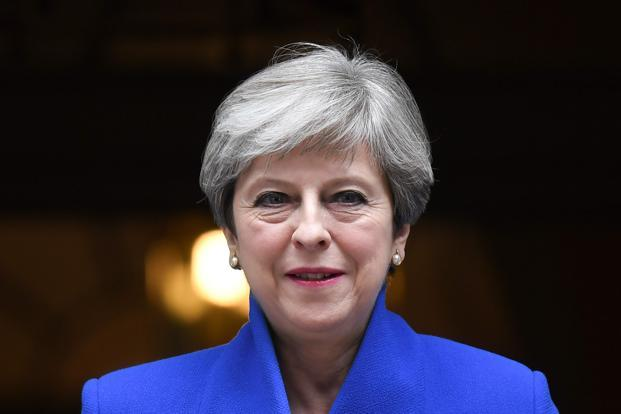 A file photo of UK Prime Minister Theresa May. Photo: AFP