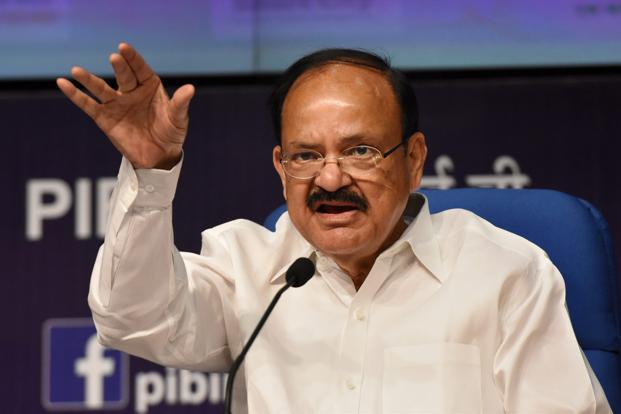 A file photo of Union minister for urban development M. Venkaiah Naidu. Photo: PTI