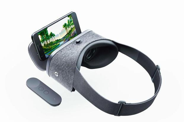 The Google Daydream View headset is lined with a soft fabric all around, offering some extra ventilation.