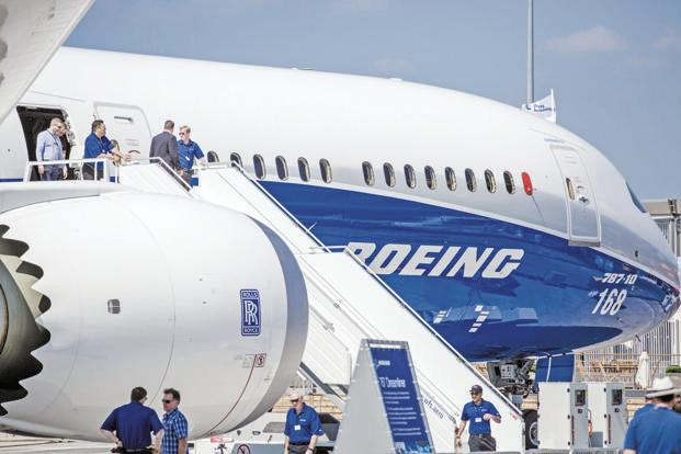 Boeing shows off its 787-10 Dreamliner. The firm dominated deal flow at the show on the back of Asian demand for the new Max 10, the biggest version of its 737 workhorse. Photo: Bloomberg