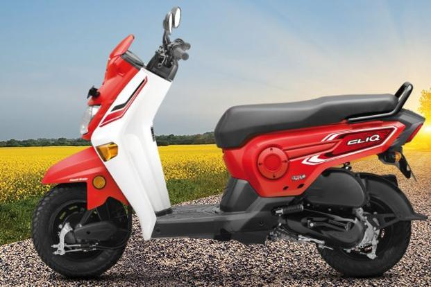 Honda Cliq is a 110-cc scooter from Honda's flagship Activa stable, and is priced at Rs 42,499. Photo: HMSI