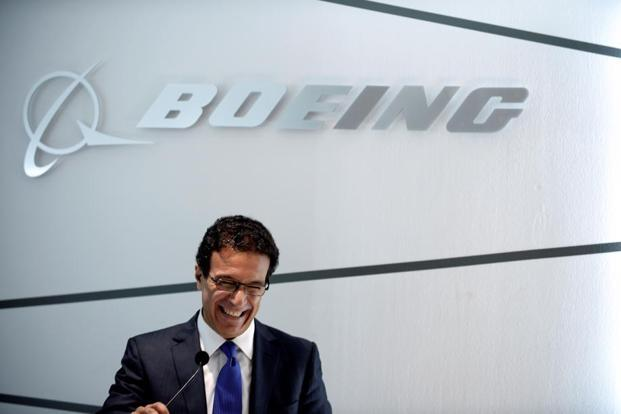 Boeing vice-president Ihssane Mounir addresses the closing Boeing press conference at Le Bourget on 22 June during the International Paris Air Show.Photo: Eric Piermont/AFP