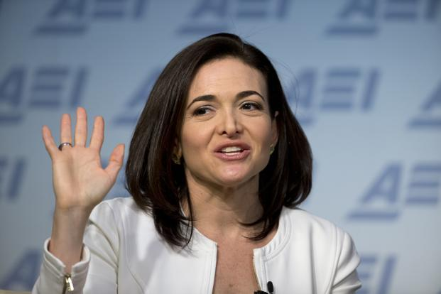 A file photo of Facebook chief operating officer Sheryl Sandberg. Photo: AP