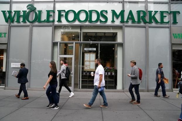 Amazon launched a $13.7 billion bid for grocery chain Whole Foods Market Inc last week, marking its intention to take on Wal-Mart. Photo: Reuters