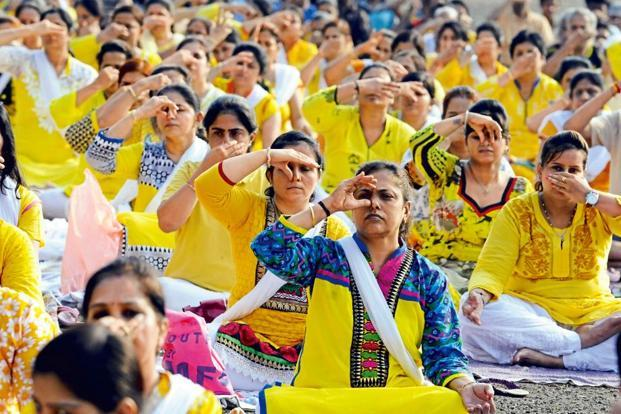 The number of yoga trainers in the country has increased 30% in the past two years, according to estimates by the AYUSH ministry. Photo: HT