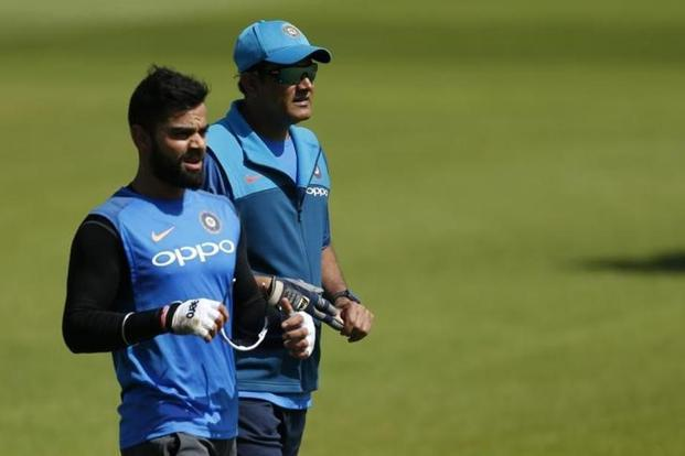 Since Anil Kumble's unhappy exit, a one-year old tweet welcoming the former leg-spinner to the coach's post has been deleted from Virat Kohli's Twitter feed. Photo: Reuters