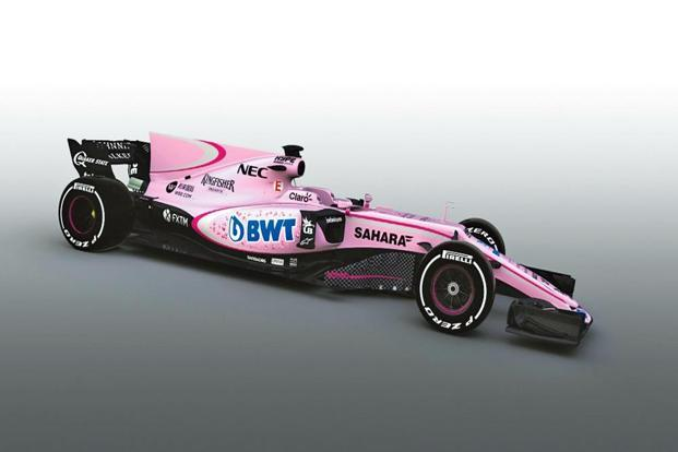 the New look of Force India Formula One's mode
