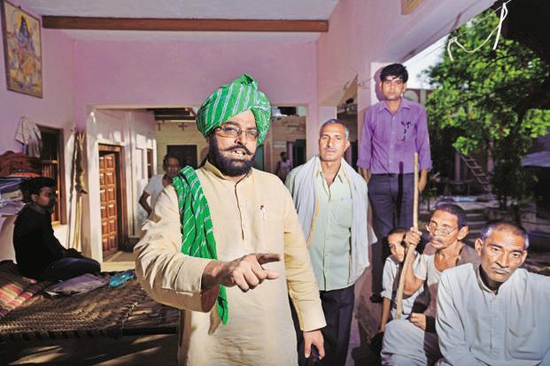 Buddha Singh, district president of the Bharatiya Kisan Union (BKU) in Mathura. Farmers are now preparing to launch a statewide protest against the Yogi Adityanath government under BKU. Photo: Pradeep Gaur/Mint