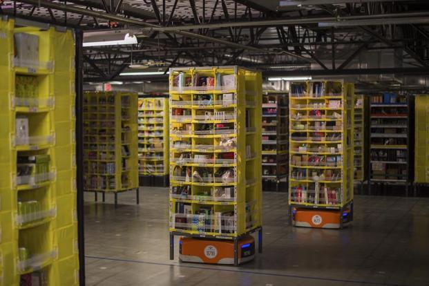 Amazon robots poised to revamp how Whole Foods warehouses are run