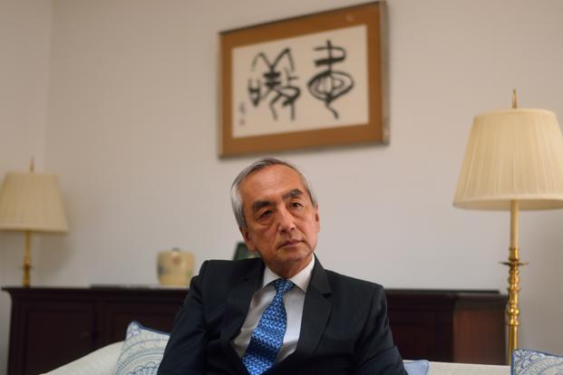 A file photo of Japanese ambassador to India Kenji Hiramatsu. Photo:  Pradeep Gaur/ Mint