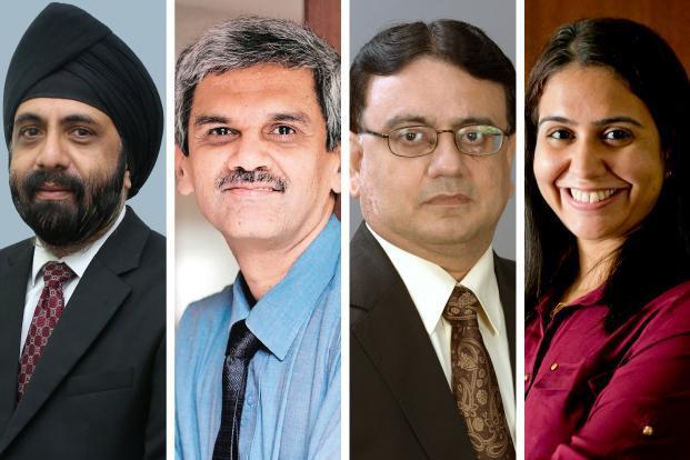 (L-R) Surinder Chawla, Lovaii Navlakhi, Virat Diwanji, Dilshad Billimoria
