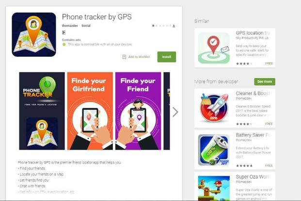 Phone Tracker by GPS was one of the apps on Google Play Store with Xavier's SDK embedded in them.