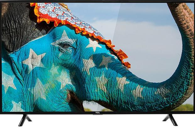 TCL offers a 49-inch LED panel with resolution of 1,920x1,080p.