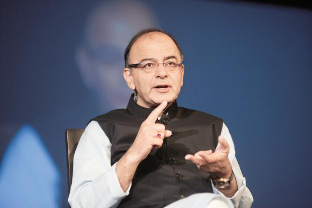 Finace minister Arun Jaitley. Bitcoins were in news recently after a massive global ransomware attack triggered by the WannaCry virus hit systems in over 100 countries. Photo: Abhijit Bhatlekar/Mint